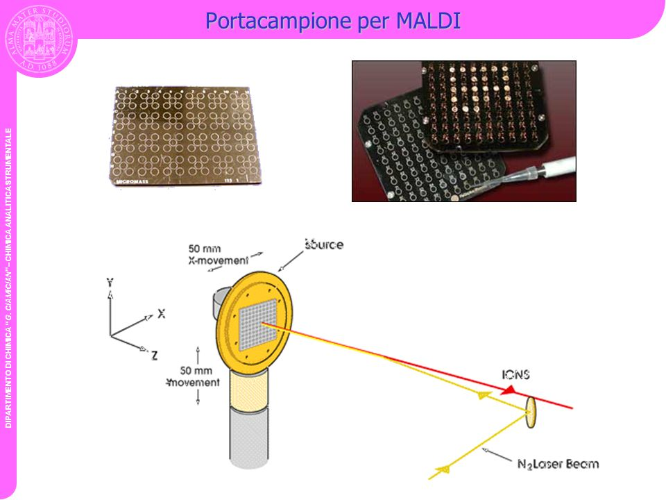 Portacampione per MALDI