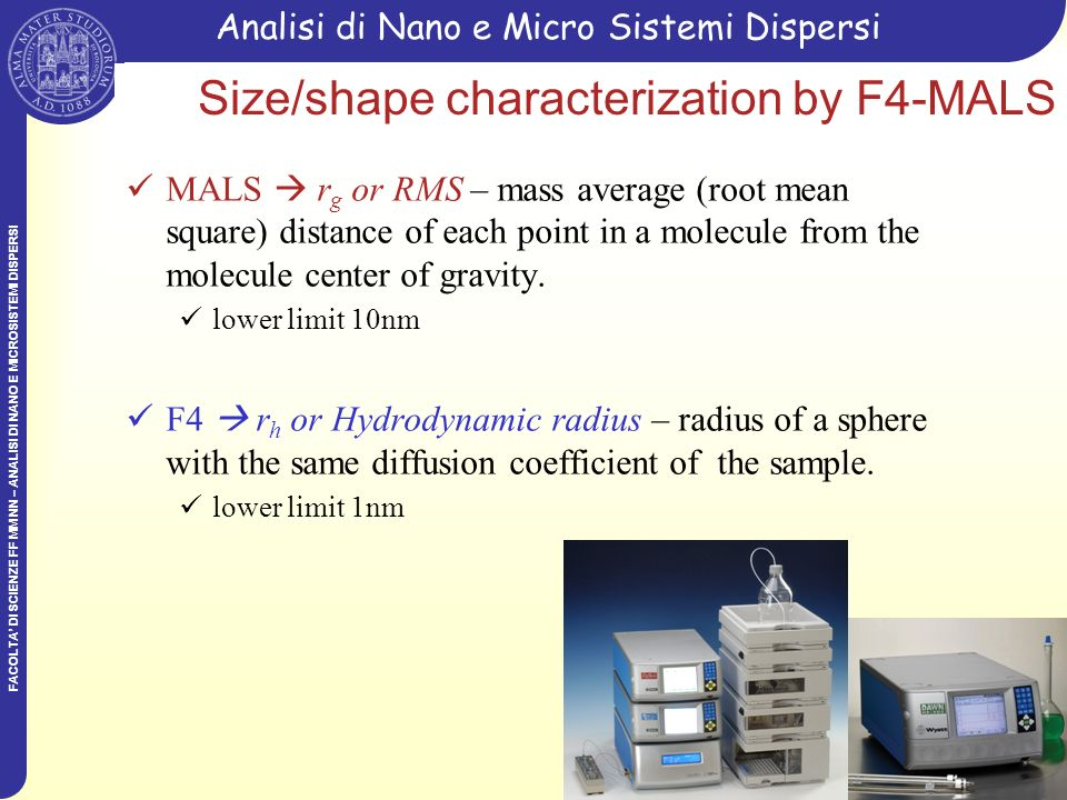 Size/shape characterization by F4-MALS