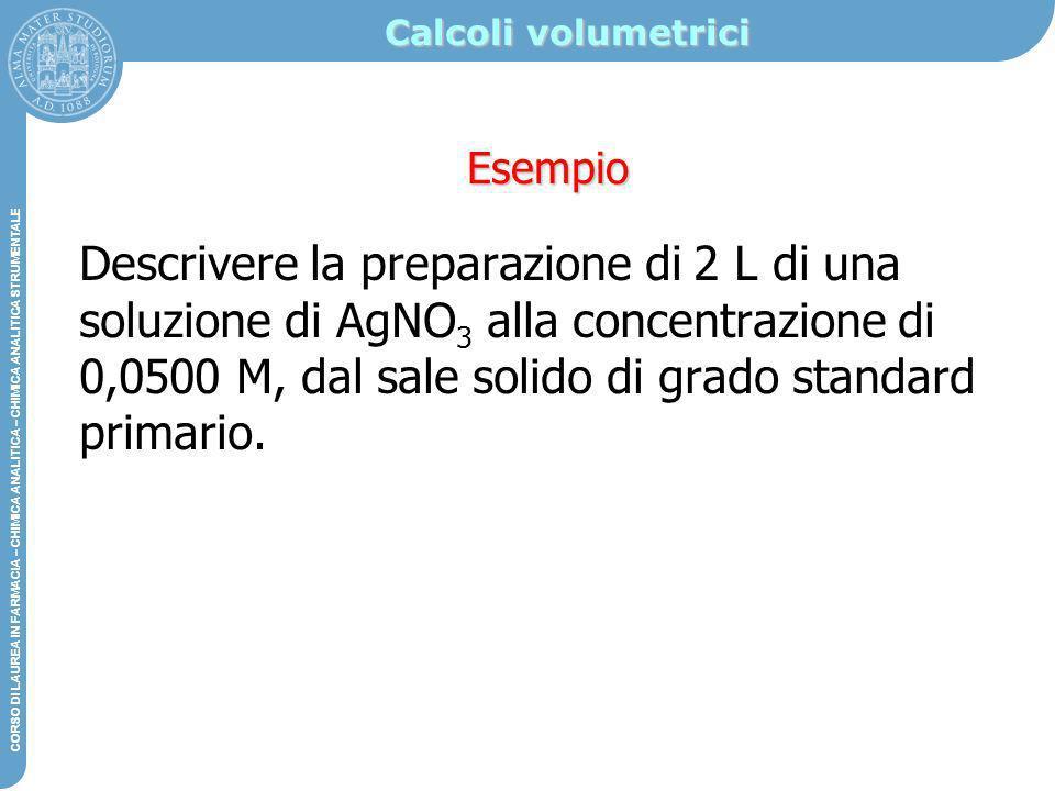 Calcoli volumetrici Esempio.