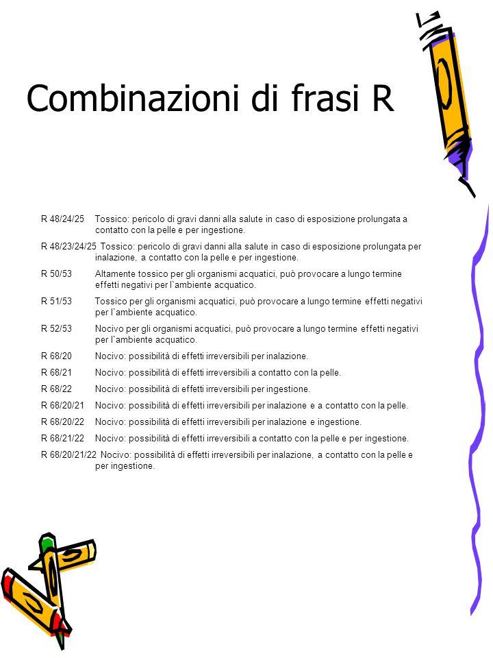 Combinazioni di frasi R