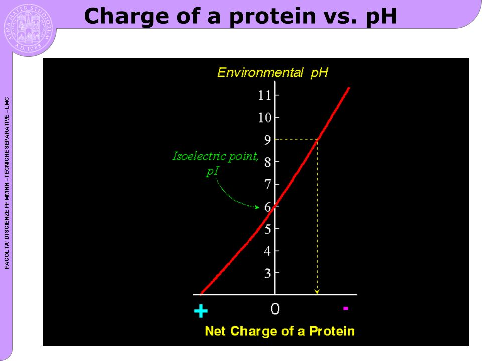 Charge of a protein vs. pH