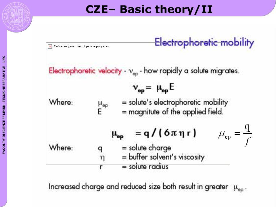 CZE– Basic theory/II
