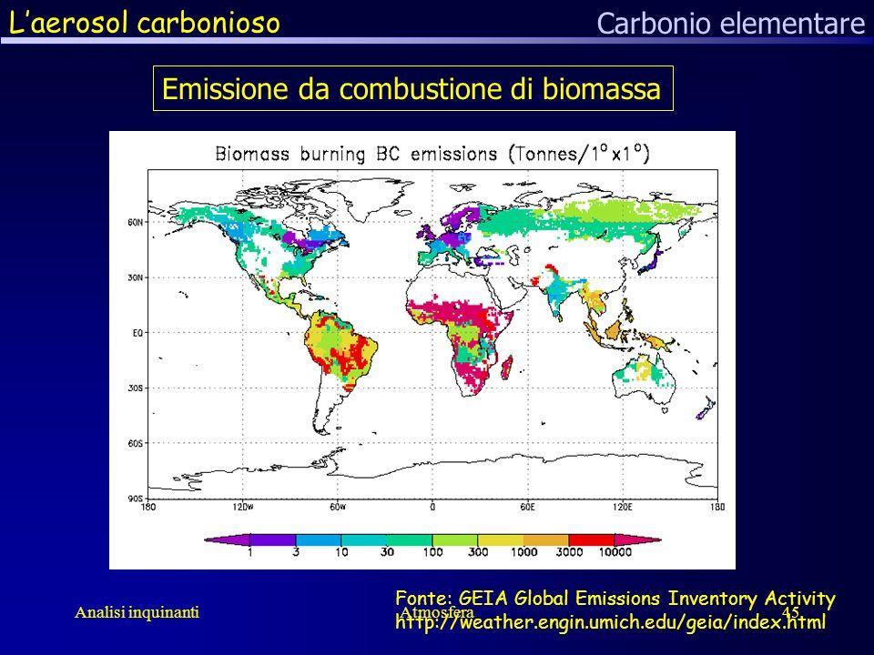 Emissione da combustione di biomassa