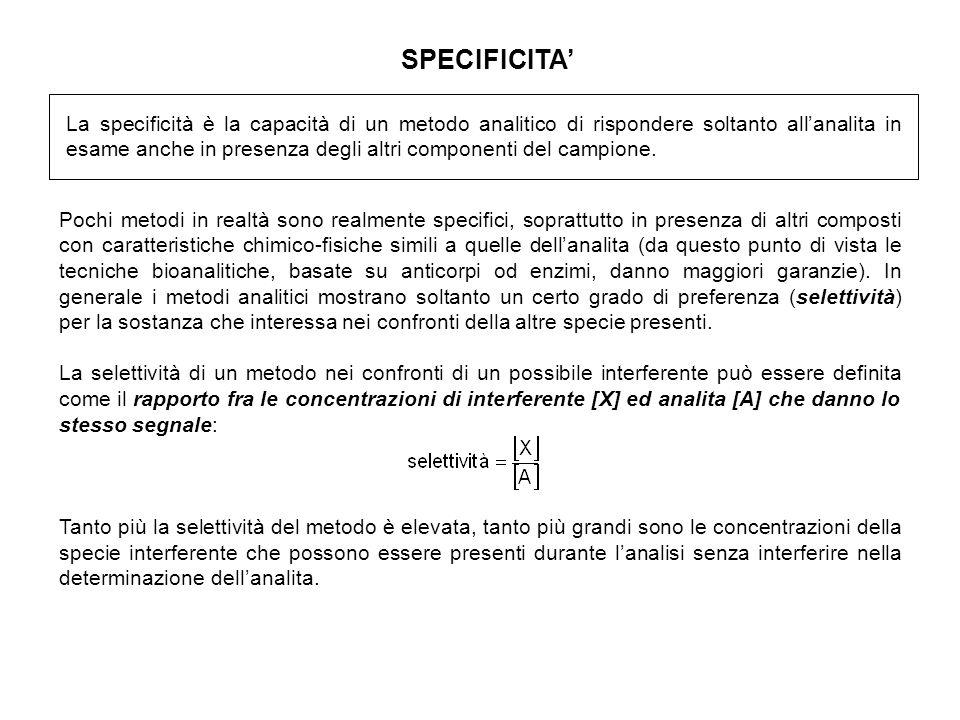 SPECIFICITA'