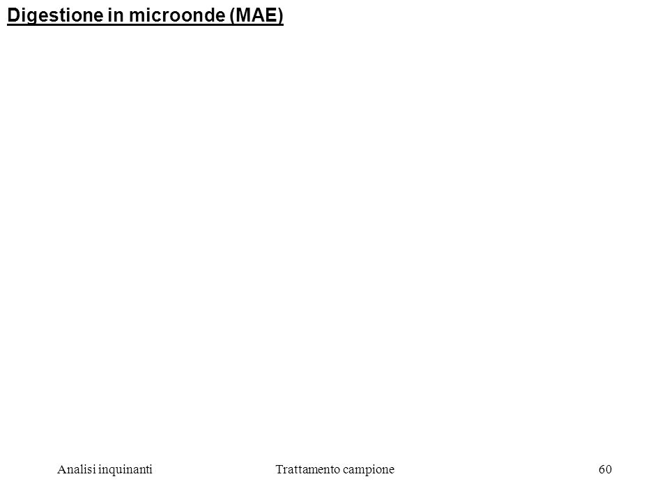 Digestione in microonde (MAE)