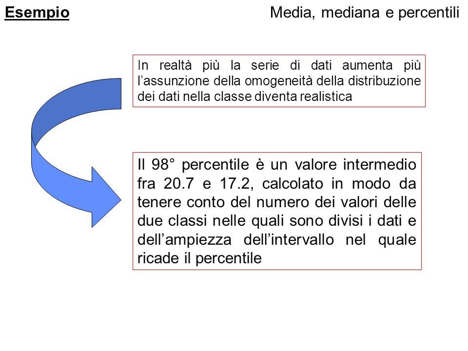 Media, mediana e percentili