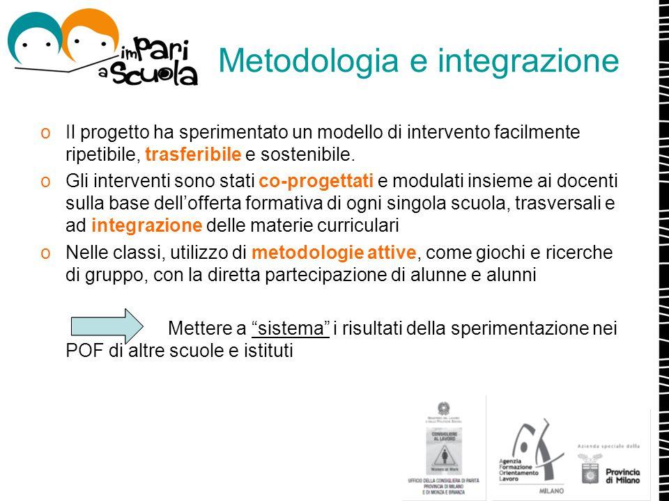 Metodologia e integrazione