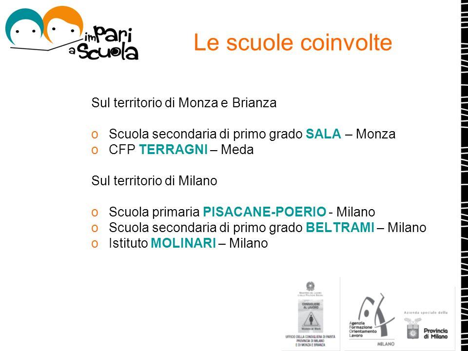 Le scuole coinvolte Sul territorio di Monza e Brianza