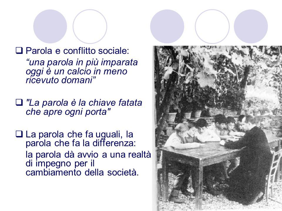 Parola e conflitto sociale: