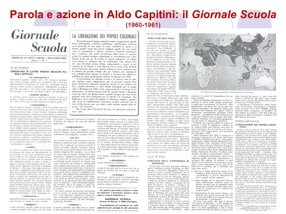 Parola e azione in Aldo Capitini: il Giornale Scuola (1960-1961)