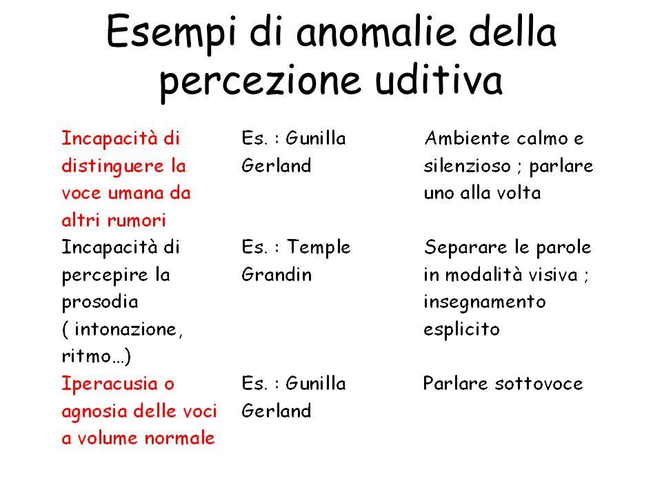 Esempi di anomalie della percezione uditiva