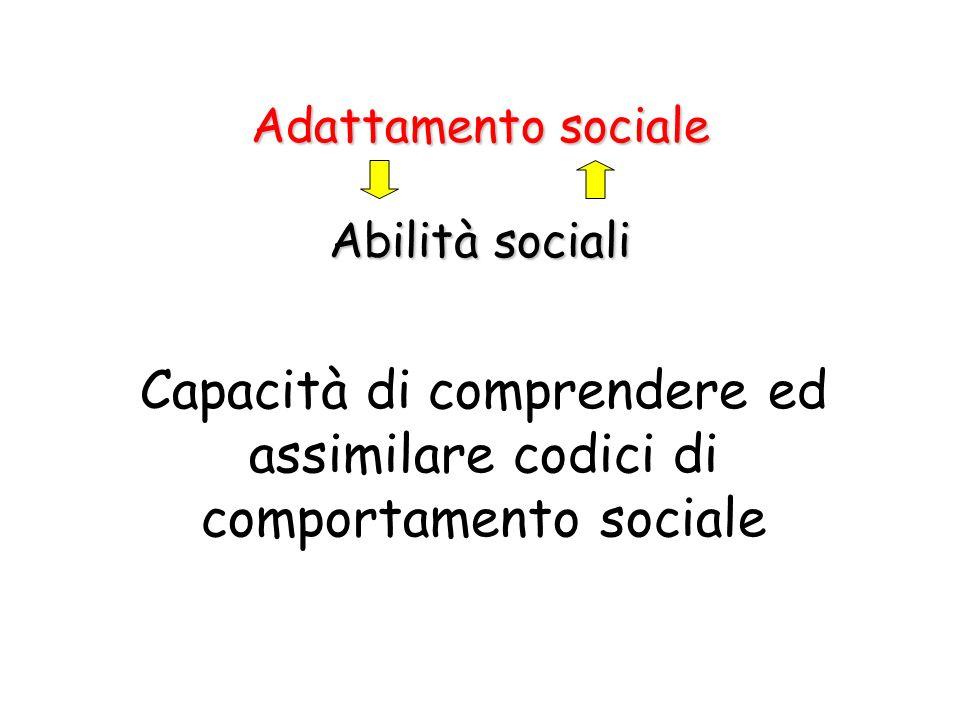 Capacità di comprendere ed assimilare codici di comportamento sociale