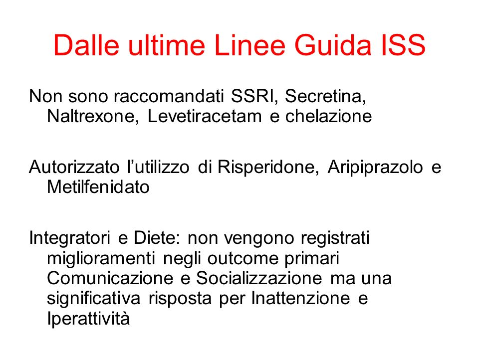 Dalle ultime Linee Guida ISS