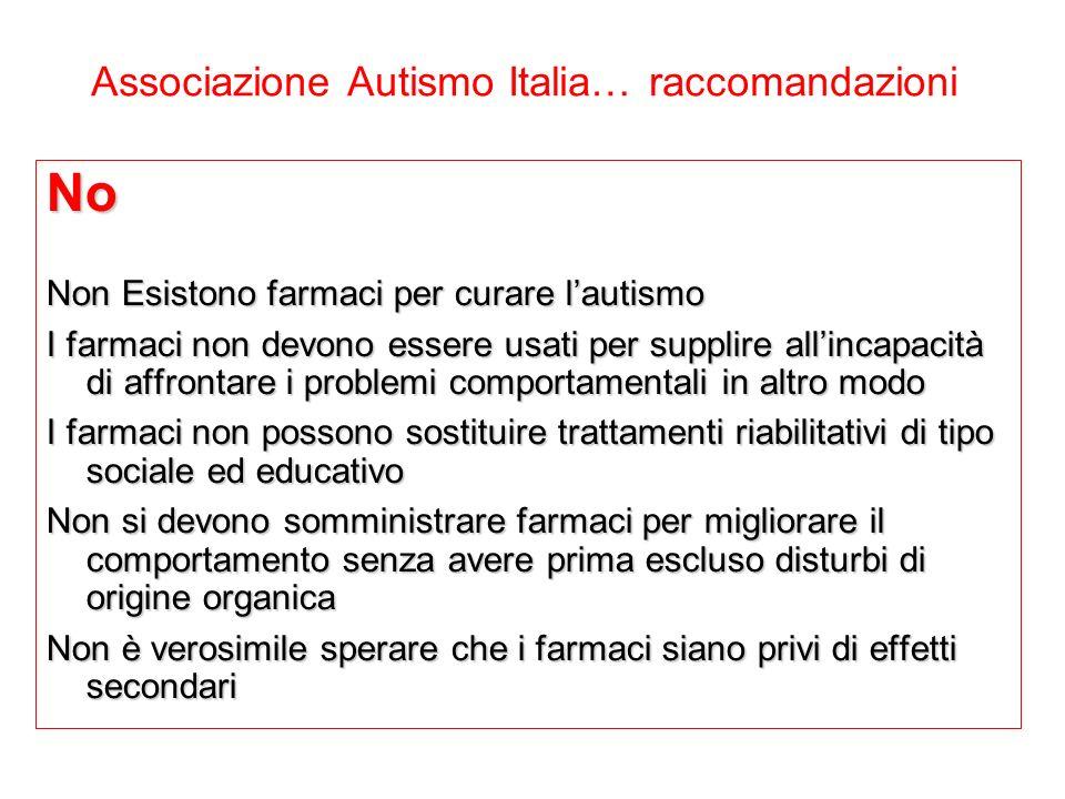 Associazione Autismo Italia… raccomandazioni