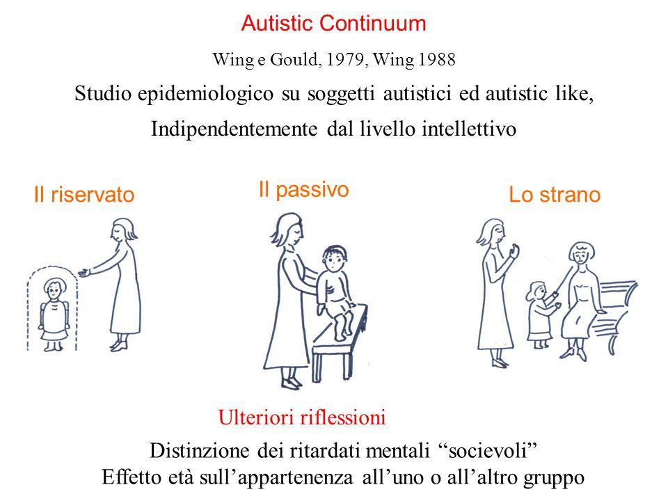Studio epidemiologico su soggetti autistici ed autistic like,