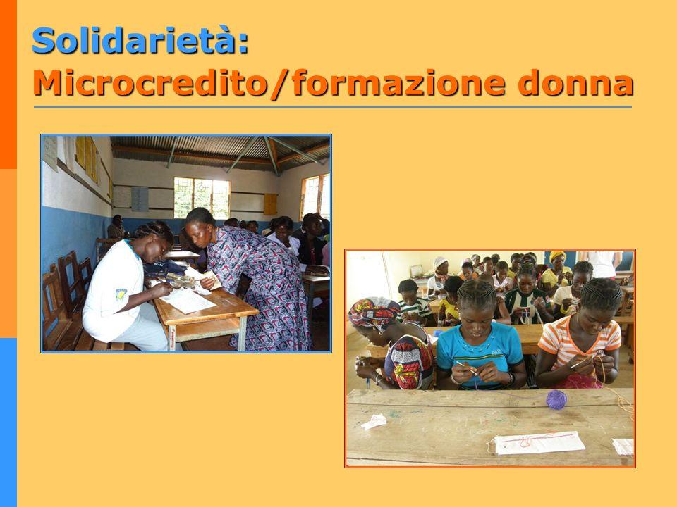 Solidarietà: Microcredito/formazione donna