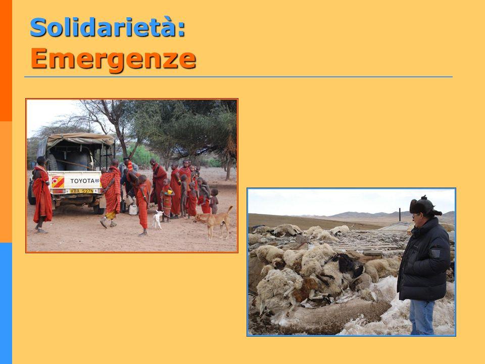 Solidarietà: Emergenze