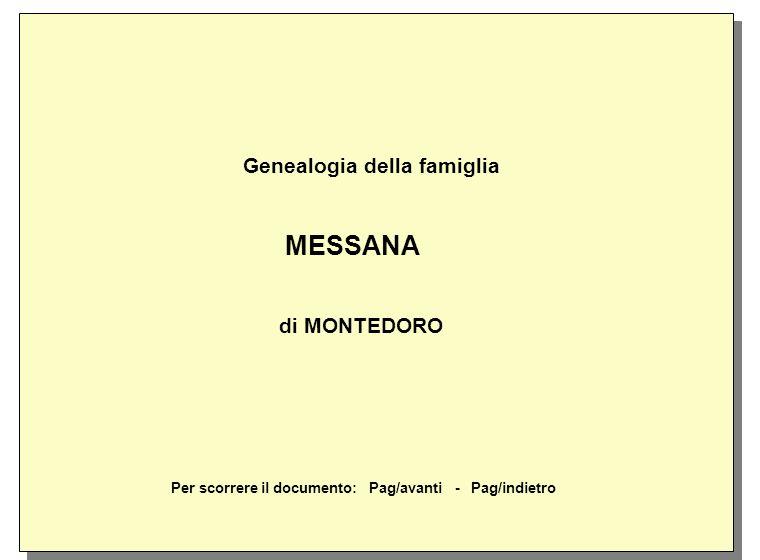 Genealogia della famiglia MESSANA di MONTEDORO
