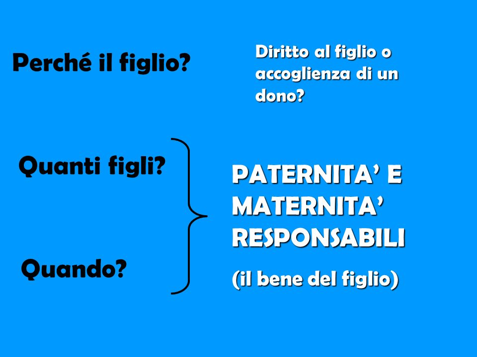 PATERNITA' E MATERNITA' RESPONSABILI