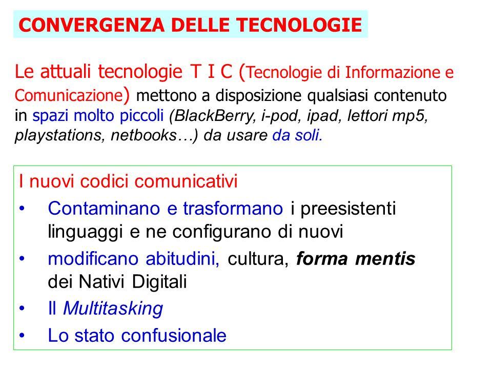 CONVERGENZA DELLE TECNOLOGIE