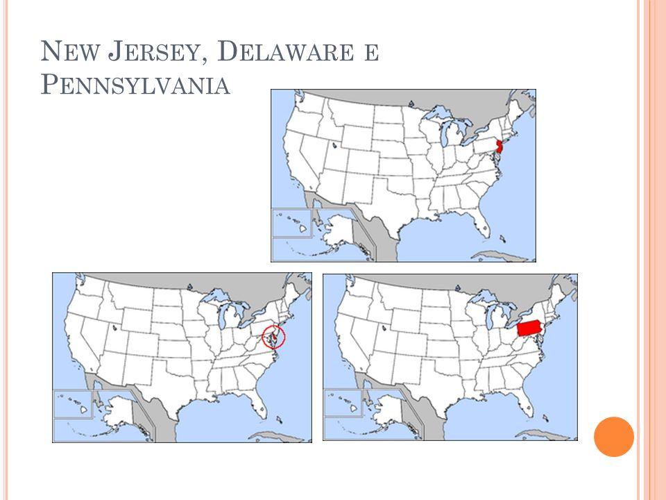 New Jersey, Delaware e Pennsylvania