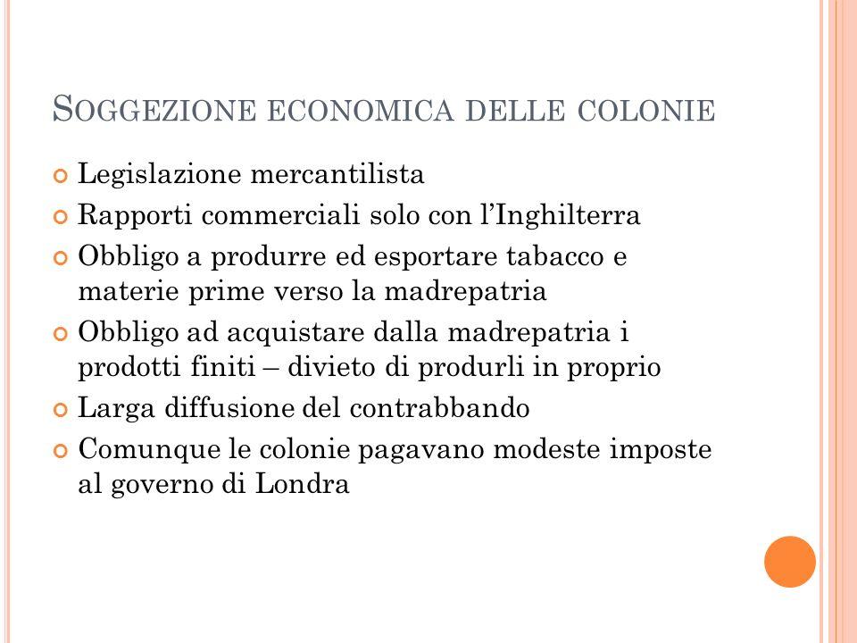 Soggezione economica delle colonie