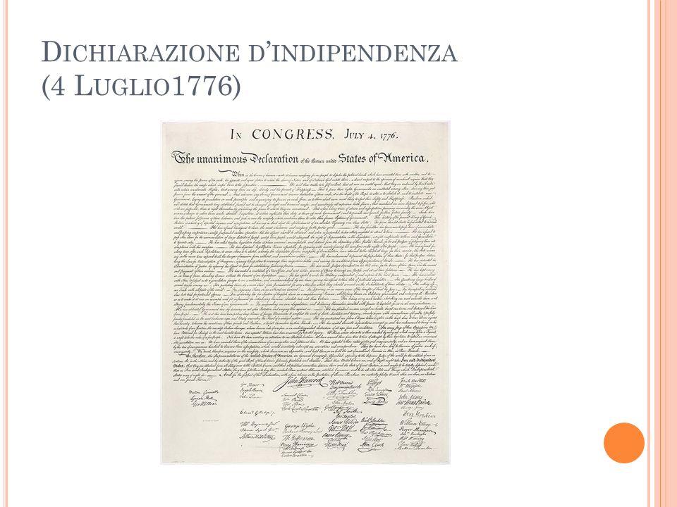 Dichiarazione d'indipendenza (4 Luglio1776)