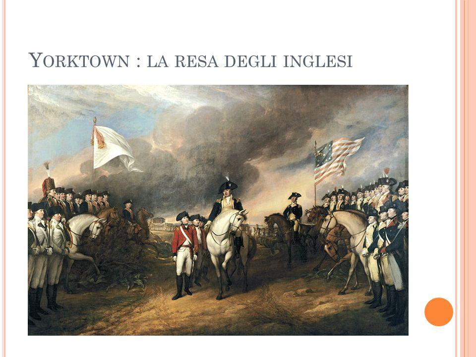Yorktown : la resa degli inglesi