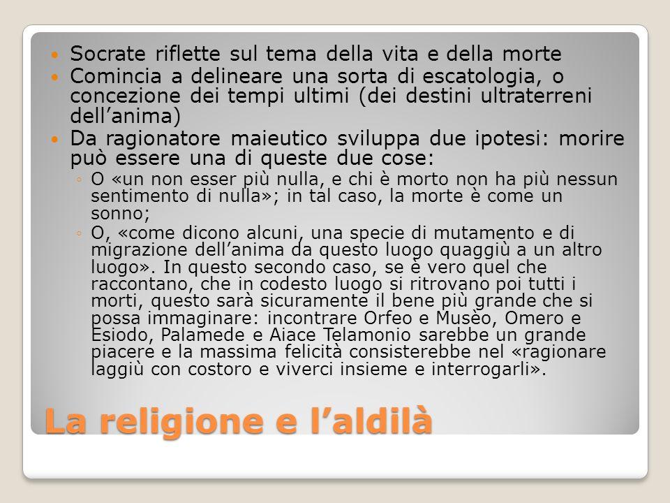 La religione e l'aldilà