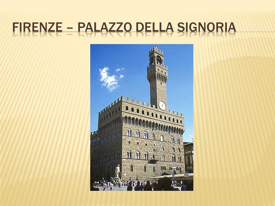 Firenze – palazzo della signoria