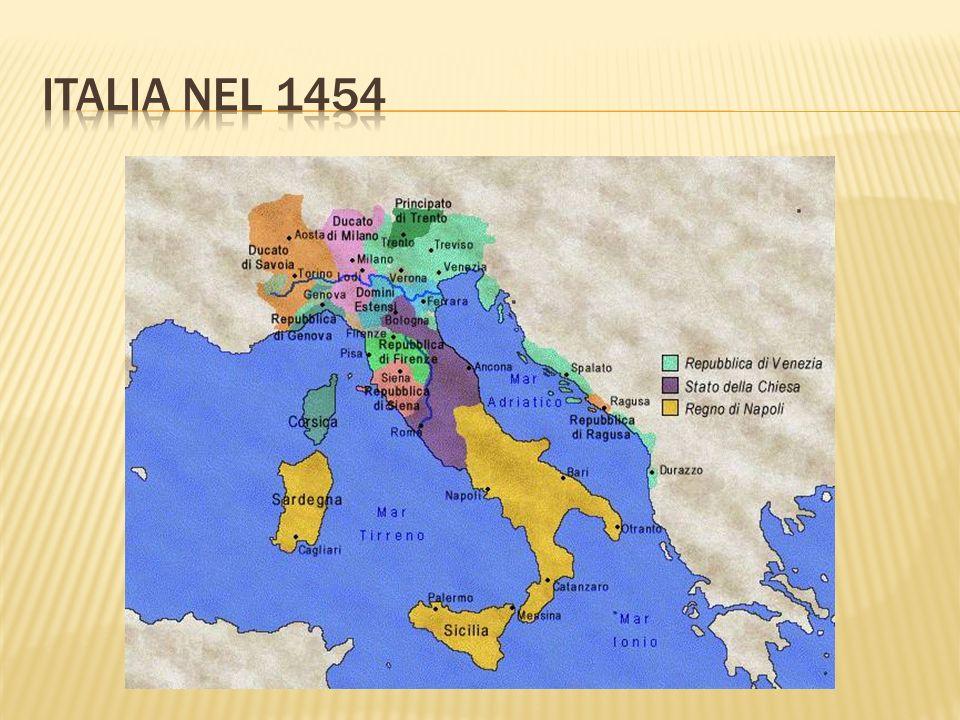 ITALIA NEL 1454
