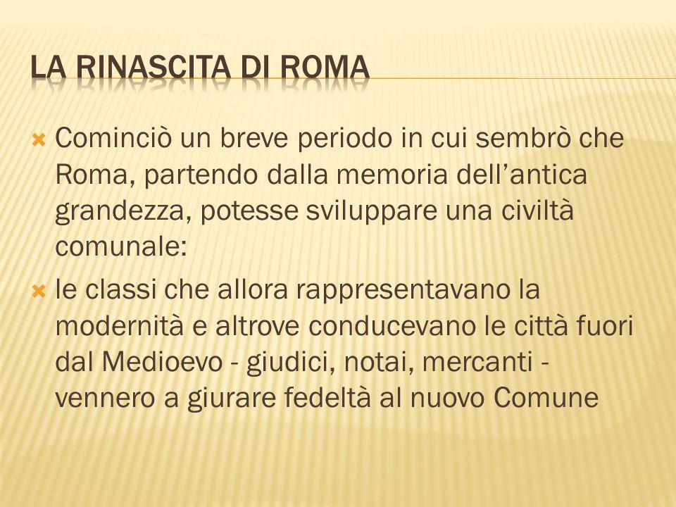 LA RINASCITA DI ROMA
