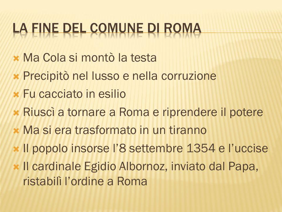 LA FINE DEL COMUNE DI ROMA