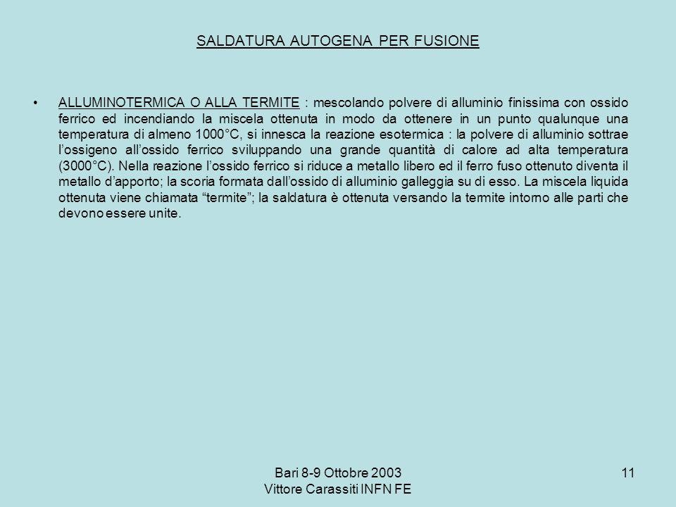 SALDATURA AUTOGENA PER FUSIONE