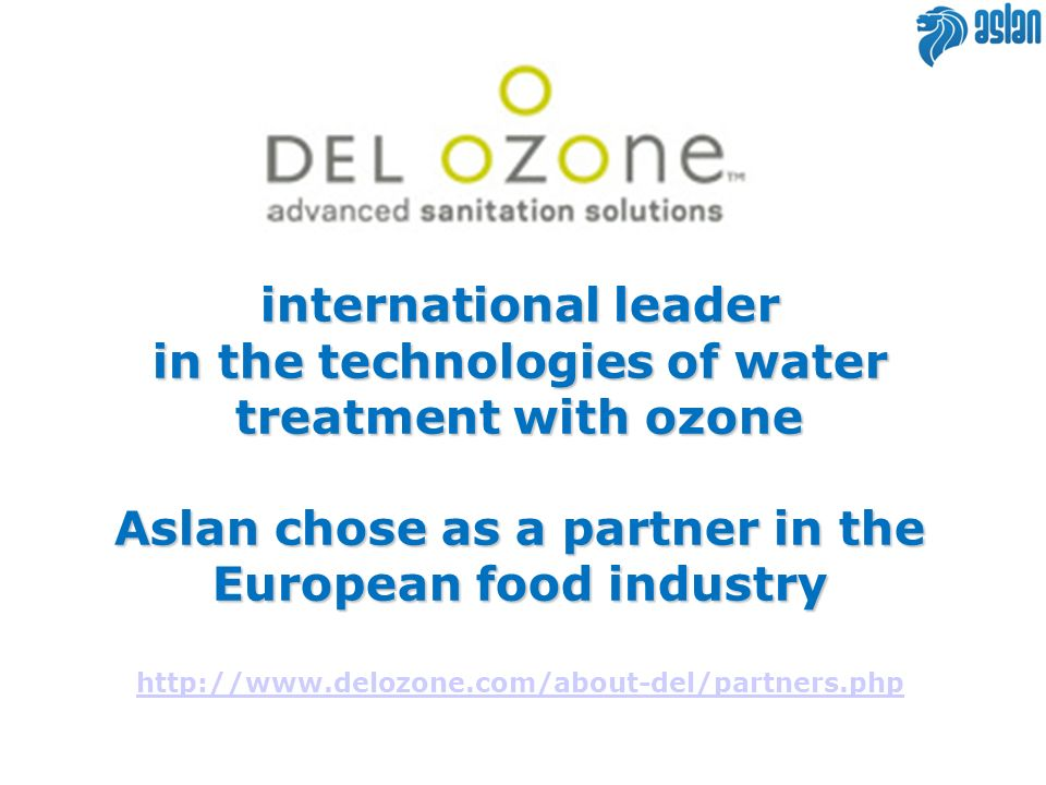 in the technologies of water treatment with ozone