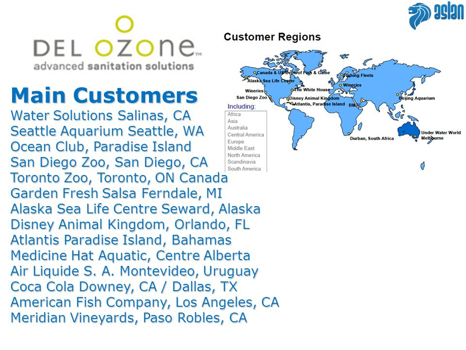 Main Customers Water Solutions Salinas, CA