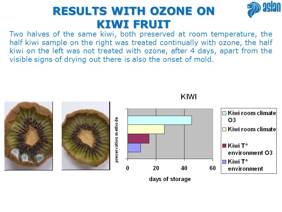 RESULTS WITH OZONE ON KIWI FRUIT