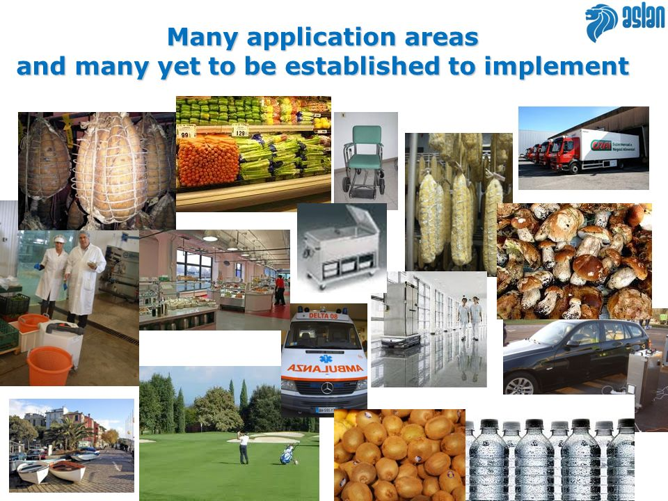 Many application areas and many yet to be established to implement