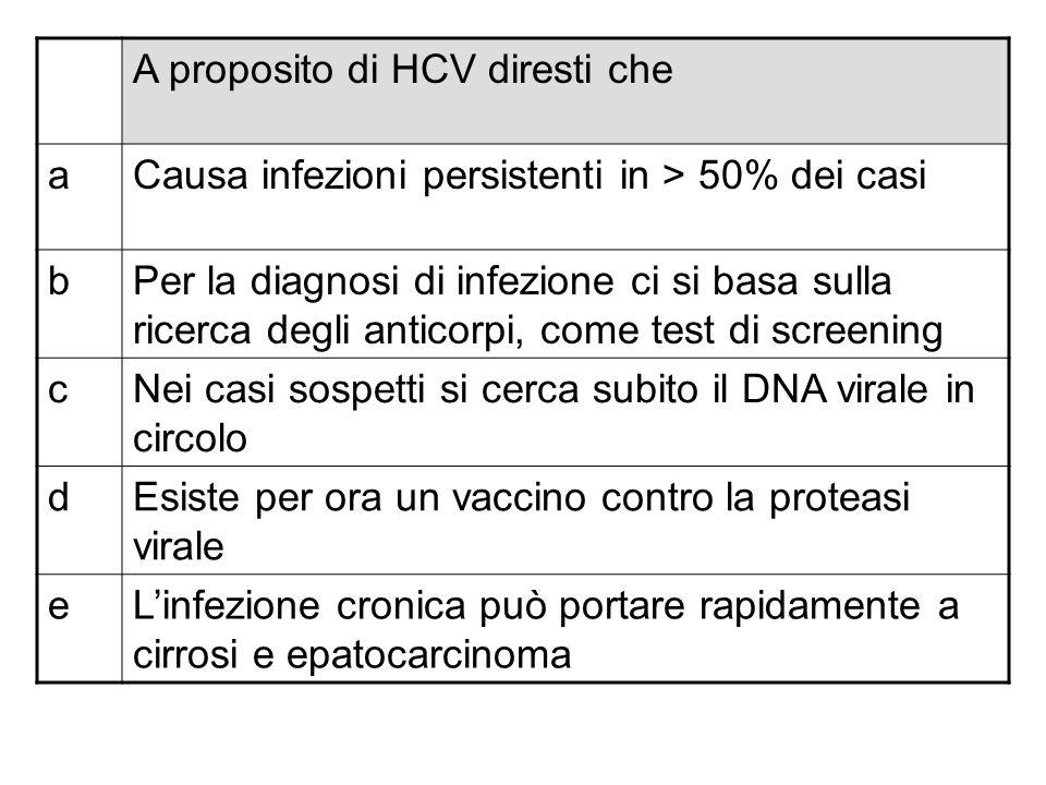 A proposito di HCV diresti che