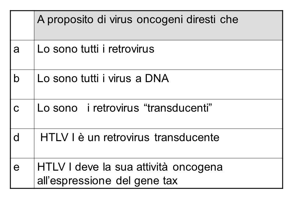 A proposito di virus oncogeni diresti che
