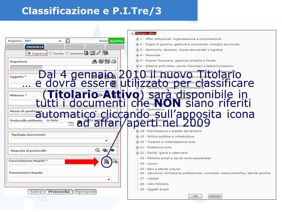 Classificazione e P.I.Tre/3