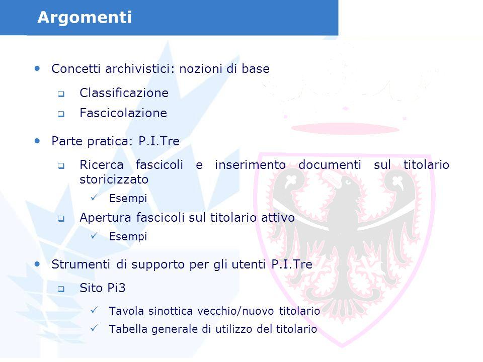 Argomenti Concetti archivistici: nozioni di base Classificazione