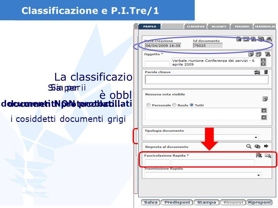 Classificazione e P.I.Tre/1