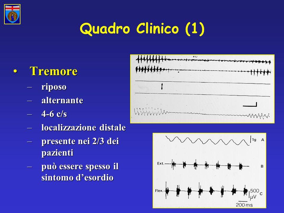 Quadro Clinico (1) Tremore riposo alternante 4-6 c/s