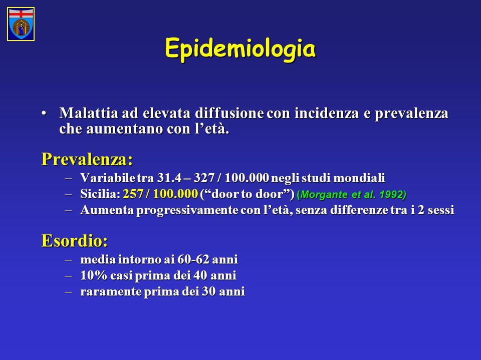 Epidemiologia Prevalenza: Esordio: