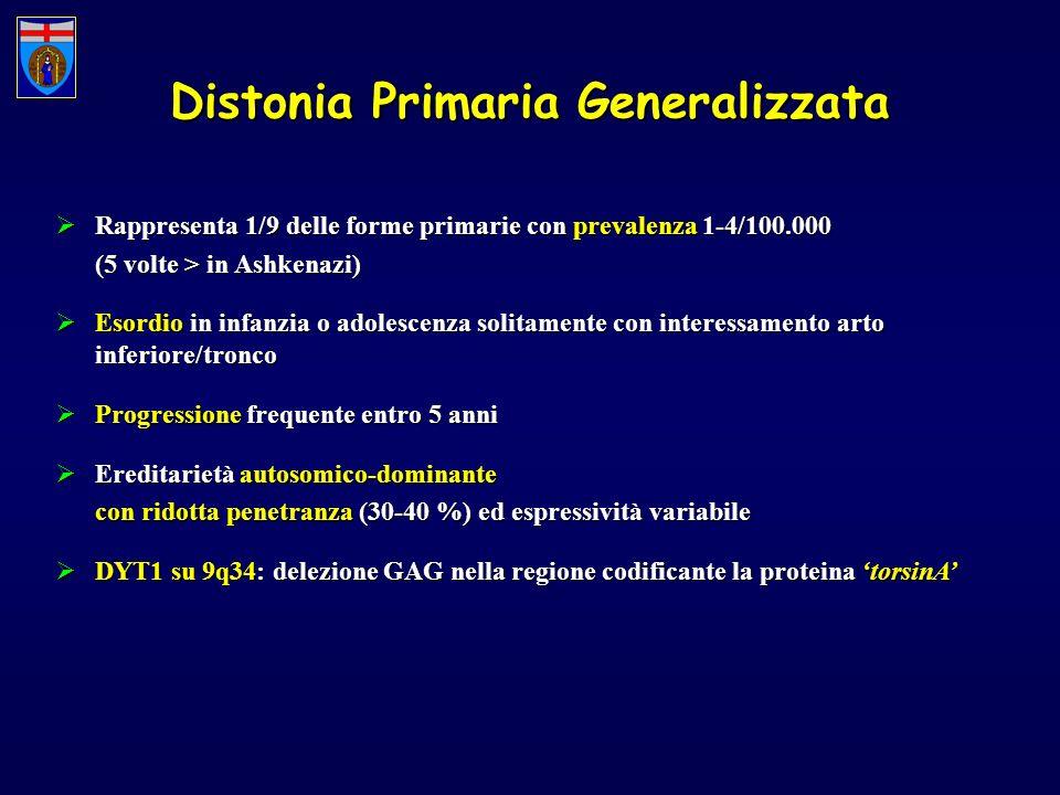 Distonia Primaria Generalizzata