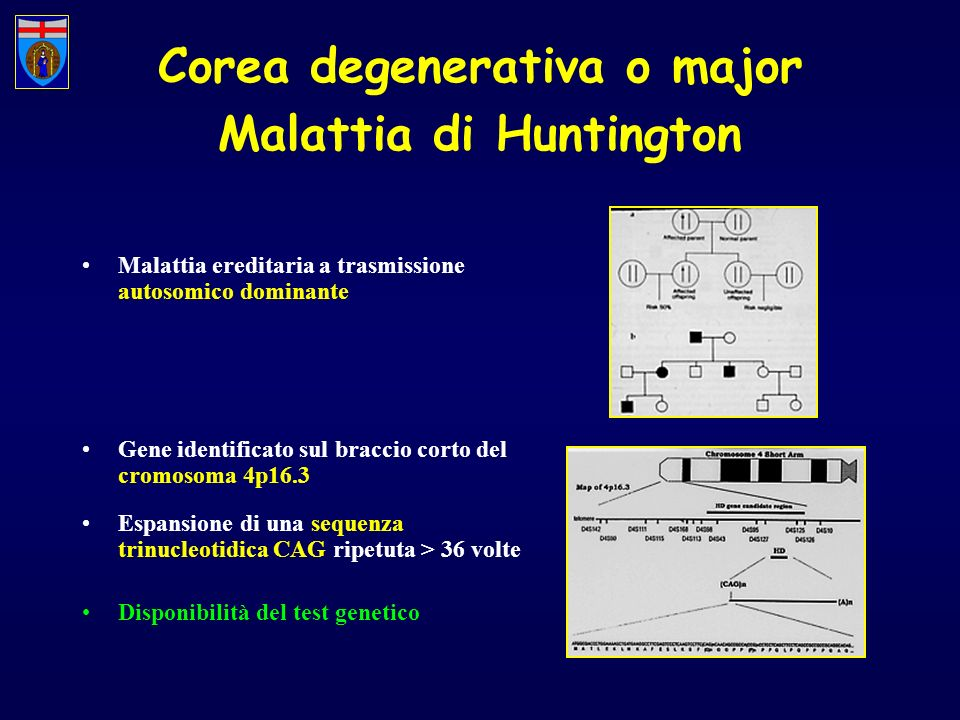 Corea degenerativa o major Malattia di Huntington