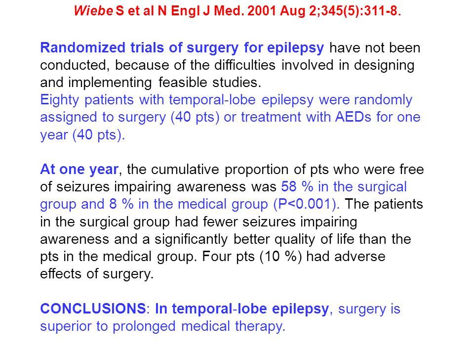 Wiebe S et al N Engl J Med. 2001 Aug 2;345(5):311-8.