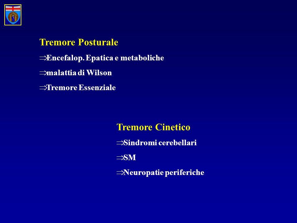Tremore Posturale Tremore Cinetico Encefalop. Epatica e metaboliche