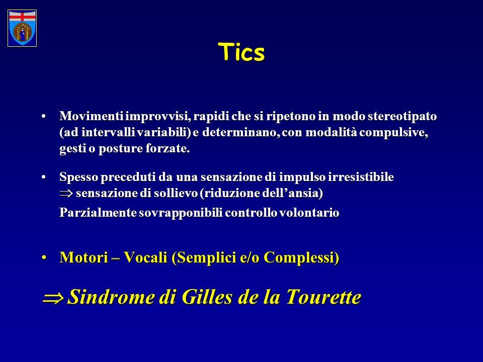 Tics  Sindrome di Gilles de la Tourette